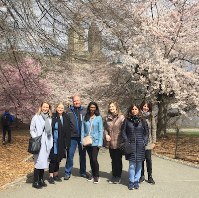 Pod Hotel tour group in Central Park