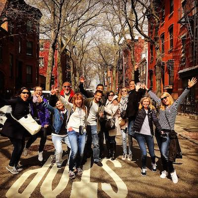 Large group in Brooklyn Heights