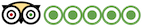 logotipo de Tripadvisor de cinco estrellas