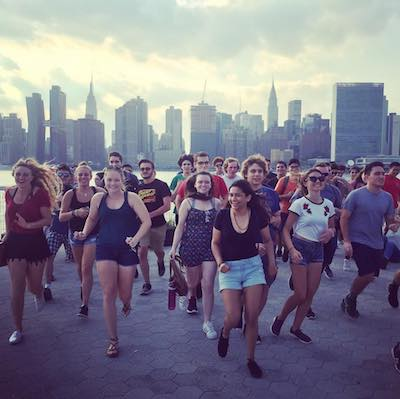 University group at Gantry State Park LIC Queens