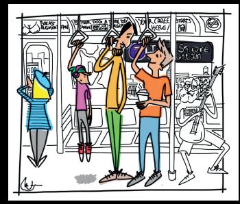 Grupo en el subway