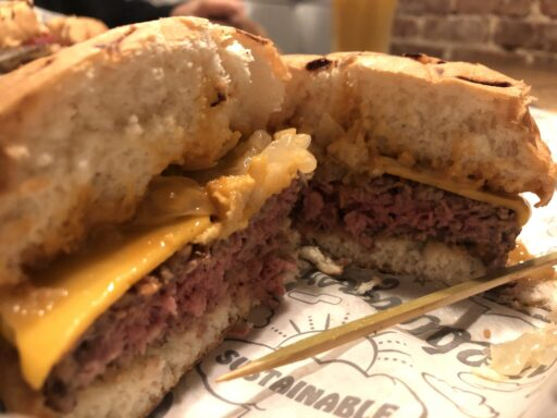 Impossible Burger at Bare Burger
