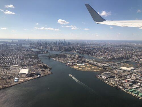 Photo of a View from plane flying over East River