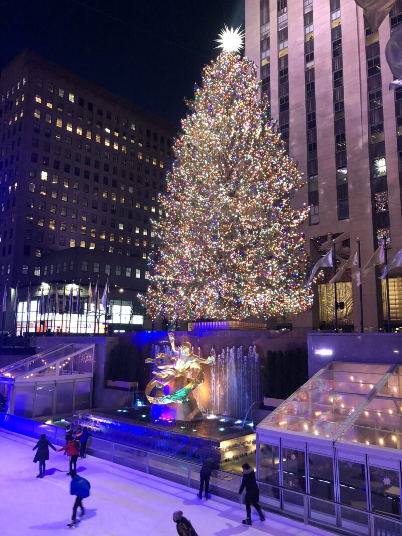 Ice Skating and the Rockefeller Center Christmas Tree