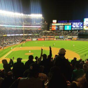 Yankee Stadium Night Game Crowd